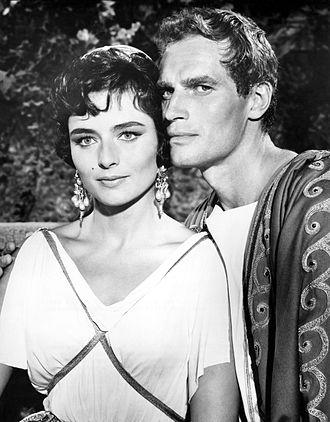 Ben-Hur (1959 film) - Charlton Heston and Marina Berti in Ben-Hur