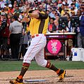 Mark Trumbo competes in semifinals of '16 T-Mobile -HRDerby. (28492221391).jpg