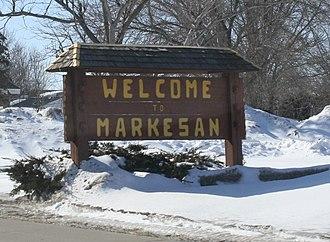 Markesan, Wisconsin - Image: Markesan Wisconsin Welcome Sign