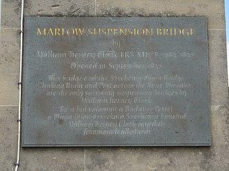 Marlow Bridge - Commemorative plaque on the Marlow Bridge