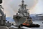 Marshal Ustinov russian cruiser in Severomorsk (2018-11-23).jpg