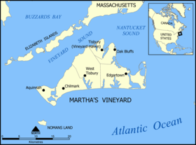 Carte de Martha's Vineyard.