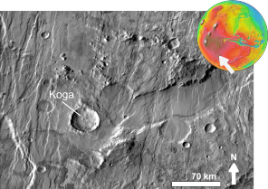 Martian impact crater Koga based on day THEMIS.png