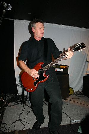 Midnight Oil - Martin Rotsey, Midnight Oil guitarist, at the Souths Leagues Club in Brisbane, 2007