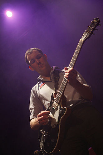 British Sea Power - Guitarist Martin Noble playing in Paris in 2008.