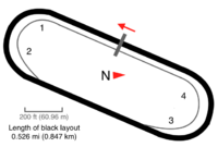 A map showing the layout of Martinsville Speedway