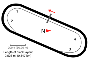 1957 Virginia 500 - A map showing the layout of Martinsville Speedway