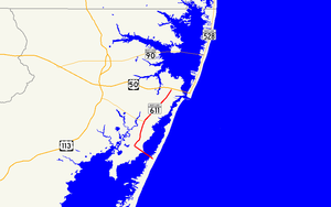 Maryland Route 611 - Image: Maryland Route 611 map