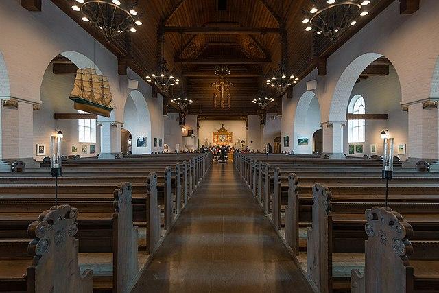 Innenraum der Masthuggskirche