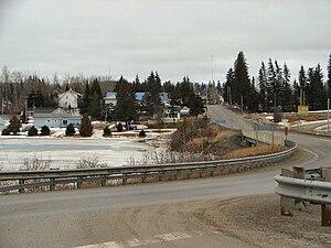 Black River-Matheson - The Vernon L. Miller Memorial Bridge taking Highway 101 across the Black River into Matheson