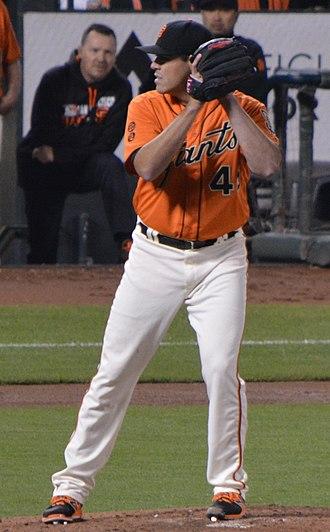 Matt Moore (baseball) - Moore with San Francisco Giants in 2016