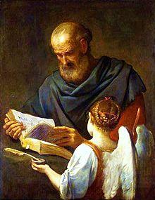 Simone Cantarini, San Matteo e l'angelo, 1645-1648.