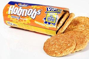 Hobnob biscuit - A packet of McVitie's HobNobs.