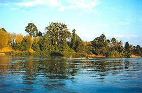 The Mekong in southern Laos.