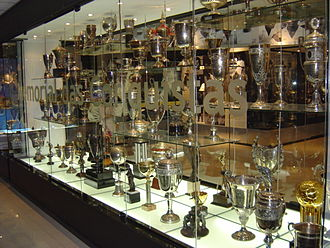 Estádio Urbano Caldeira - Several trophies won by Santos FC at the Memorial das Conquistas