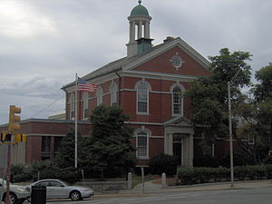Andover, Massachusetts - Memorial Hall Library, which was constructed in 1873 in memory of the 53 Andover men who lost their lives during the Civil War, was financed through private donations.