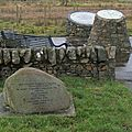 Memorials to the Knockshinnoch mining disaster.jpg