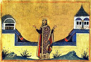 Theophano, wife of Leo VI - Image: Menologion of Basil 050