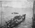 Merchant Marine and Navy of Moen Island on Review in Truk Lagoon.png