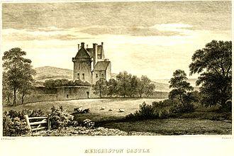 John Napier - Merchiston Castle from an 1834 woodcut