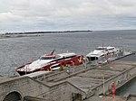 Merilin & Karolin at Quay in Tallinn 26 September 2013.JPG