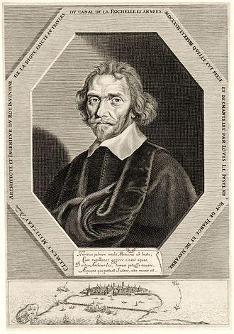 Clément Métezeau - Image: Metezeau, Clement, digue La Rochelle 1627, BNF Gallica