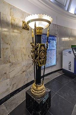 Metro SPB Line1 Pushkinskaya Torchere