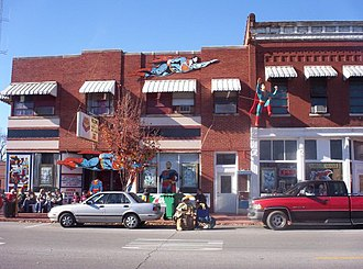 Metropolis, Illinois - Photo of the Superman Museum from the main street.