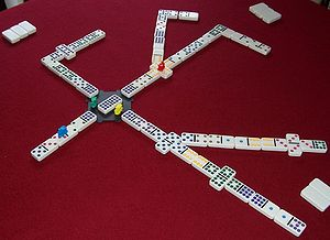 Mexican Train - A typical game of Mexican Train with the branching doubles variation