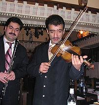 Musicians performing at an Ankara meyhane.