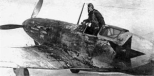 Distemper (paint) - The distemper winter camouflage paint on this Soviet MiG-3 fighter airplane shows severe erosion due to weathering.
