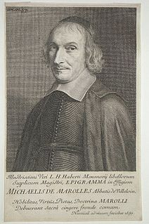 Michel de Marolles French translator and churchman