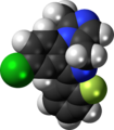 Midazolam molecule spacefill.png