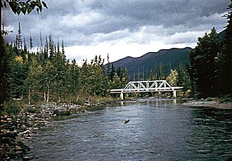 Middle Fork Flathead River - The river near Essex, Montana