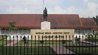 Indonesian Military Academy - Front view of the academy in Magelang