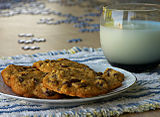 Milk and chocolate chip cookies, with puzzle in background.jpg