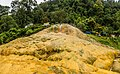 Mineral deposits from Pancuran Tujuh (panorama), near Baturraden, Purwokerto 2015-03-23.jpg