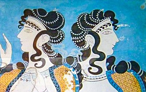 Ladies in Blue - Minoan Fresco