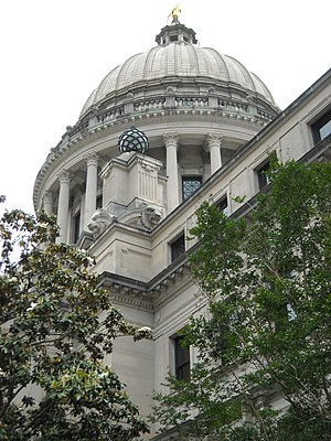 Mississippi House of Representatives - Image: Mississippi State Capitol building in Jackson