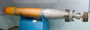 Mark 44 torpedo - A Japanese built Mk44 torpedo at the Kanoya museum, Japan