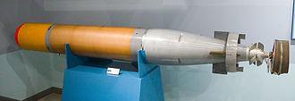 Mark 44 torpedo - A Japanese built Mk44 torpedo at the Kanoya museum, Japan