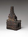 Model of mahabodhi temple, ancient india.jpg