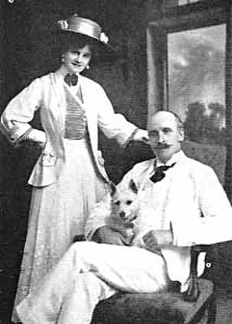 Gertie Millar - Millar and husband Lionel Monckton
