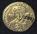 Monete d'oro di giustiniano II e tiberio IV, 705-711, 06, 1.jpg