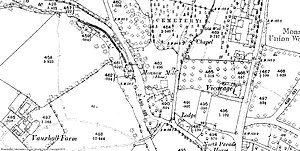 Monnow Mill - Image: Monmouth Monnow Mill OS MAP 1880