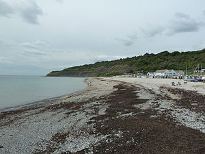 Monmouth Beach, Lyme Regis - View Of Monmouth Beach From Just Off Of The Lyme Regis Cobb.