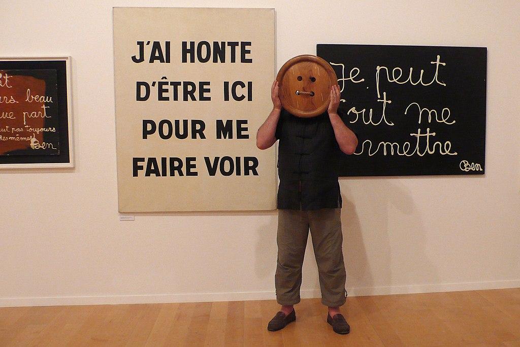 MAC Lyon : Les pérégrinations artistiques de Monsieur Bouton, Exposition Ben Vautier, Musée d'art contemporain à Lyon - Photo de Sdegroisse