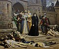 Montferrand (Puy-de-Dôme) - Musée Roger-Quilliot - La Saint Barthélémy ou Un matin devant la porte du Louvre, 1880 (Debat-Ponsan).jpg