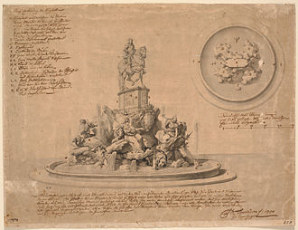 Carl Marcus Tuscher - Frederik V's monumental fountain proposal