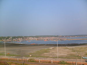 Mappila Bay - Fishing harbour and the old Arakkal Kingdom in the far